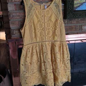 Size XXL xhiliration yellow dress